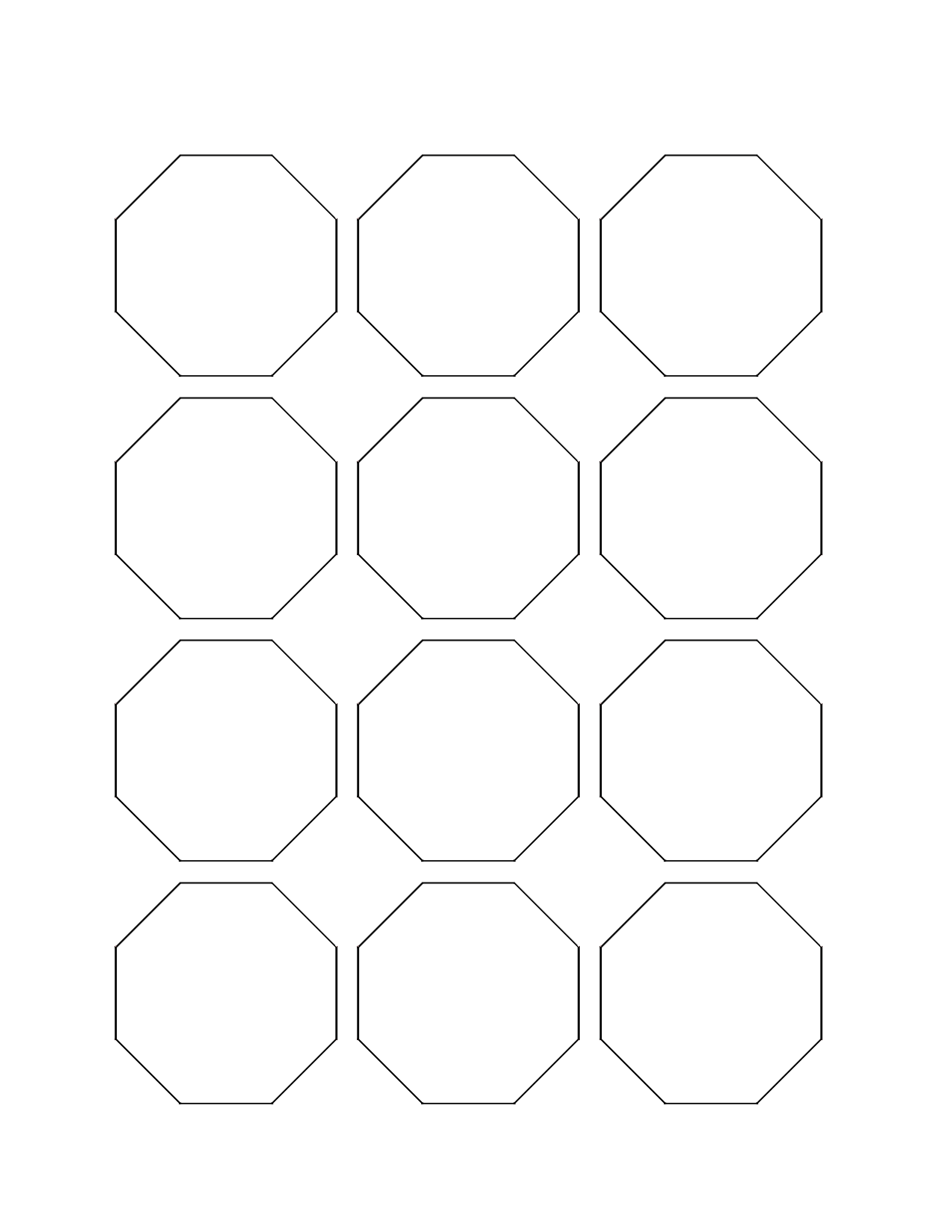 Displaying 18> Images For - Octagon Shape Template...