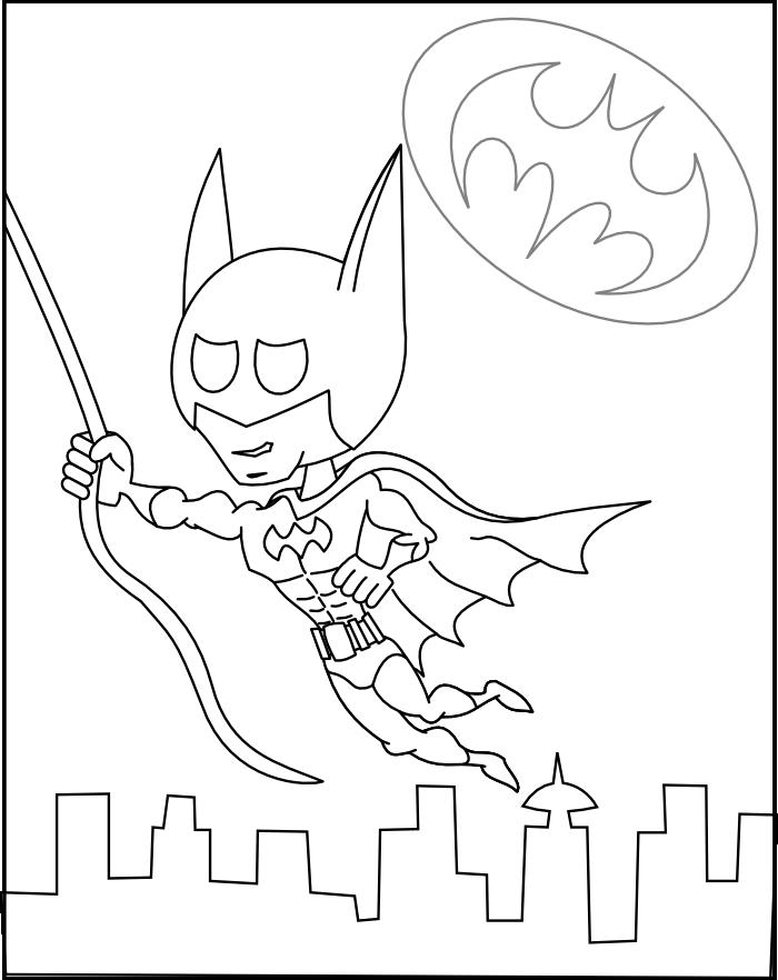 chibi batman coloring pages-#26