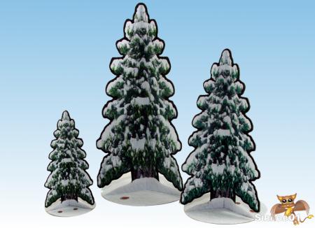 Snowy Paper Pine Trees