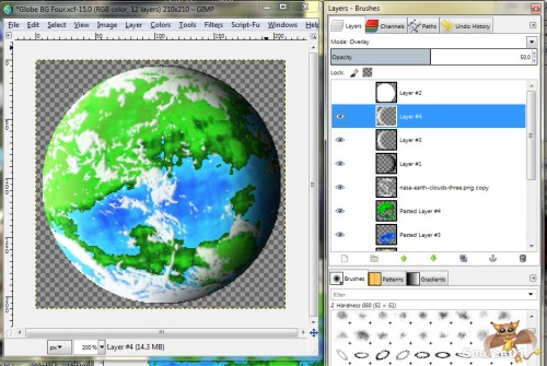 Gimp Planet Tutorial Fourteen