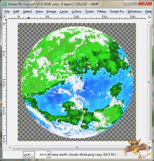 Gimp Planet Tutorial Ten