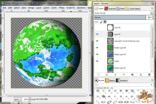 Gimp Planet Tutorial Thirteen