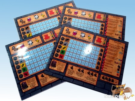 Castle Dice Player Boards