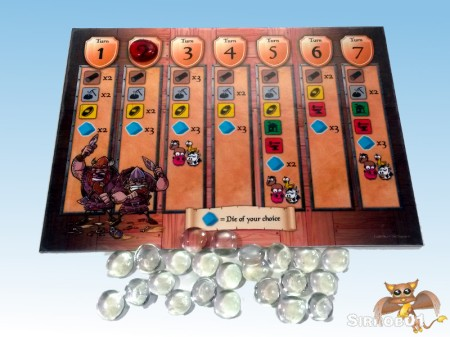 Castle Dice Turn Board
