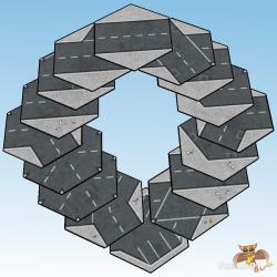 6mm Asphalt Road Tiles Decorative Circle