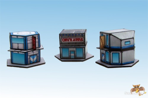6Mm Papercraft Buildings