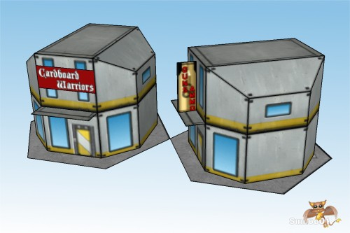 Battletech 6mm City Commercial Buildings 1_4
