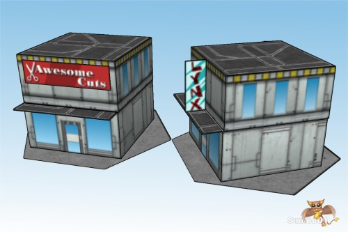 Battletech 6mm City Commercial Buildings 1_5
