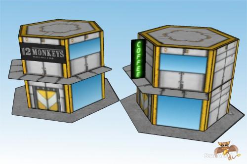 Battletech 6mm City Commercial Buildings 1_6