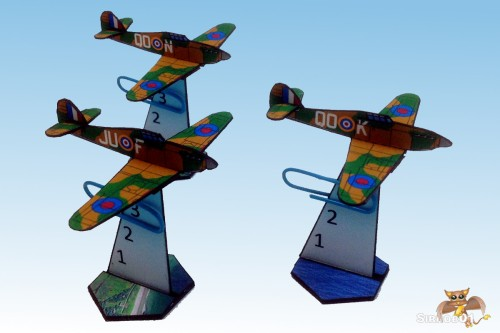 Hawker Hurricane 2_5d paper aircraft
